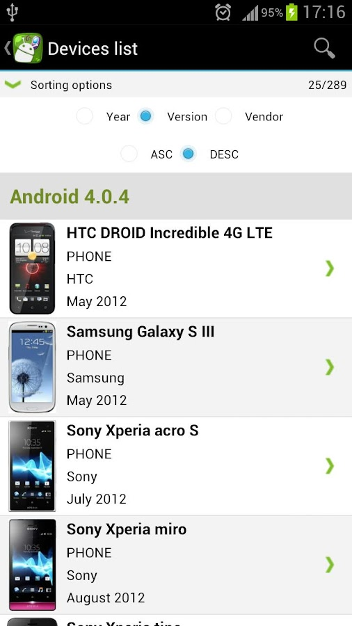 Andro Devices - screenshot