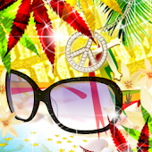 Live Wallpaper Rasta Glasses