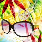 Live Wallpaper Rasta Glasses