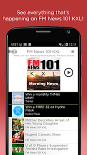 KXL FM News- screenshot thumbnail