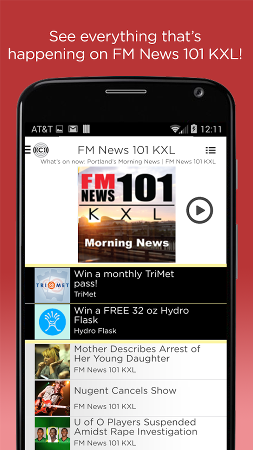 KXL FM News- screenshot