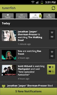 Tunerfish - Social TV - screenshot thumbnail