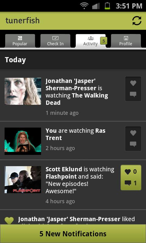 Tunerfish - Social TV - screenshot