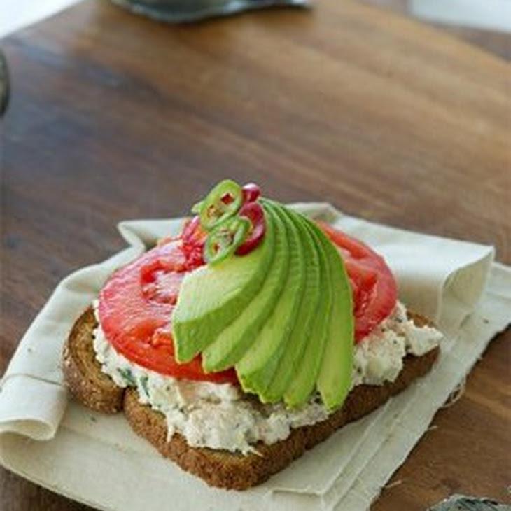Open-Faced Chicken Salad Sandwich