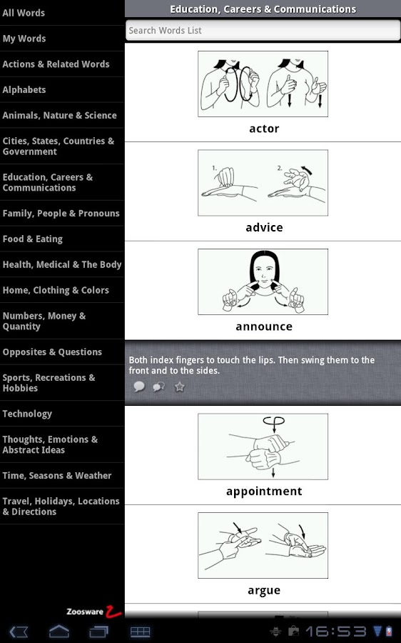 American Sign Language (Lite) - screenshot