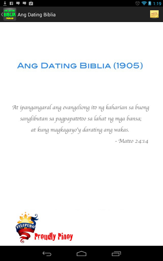 Ang Dating Biblia 1905 Free Download For Android