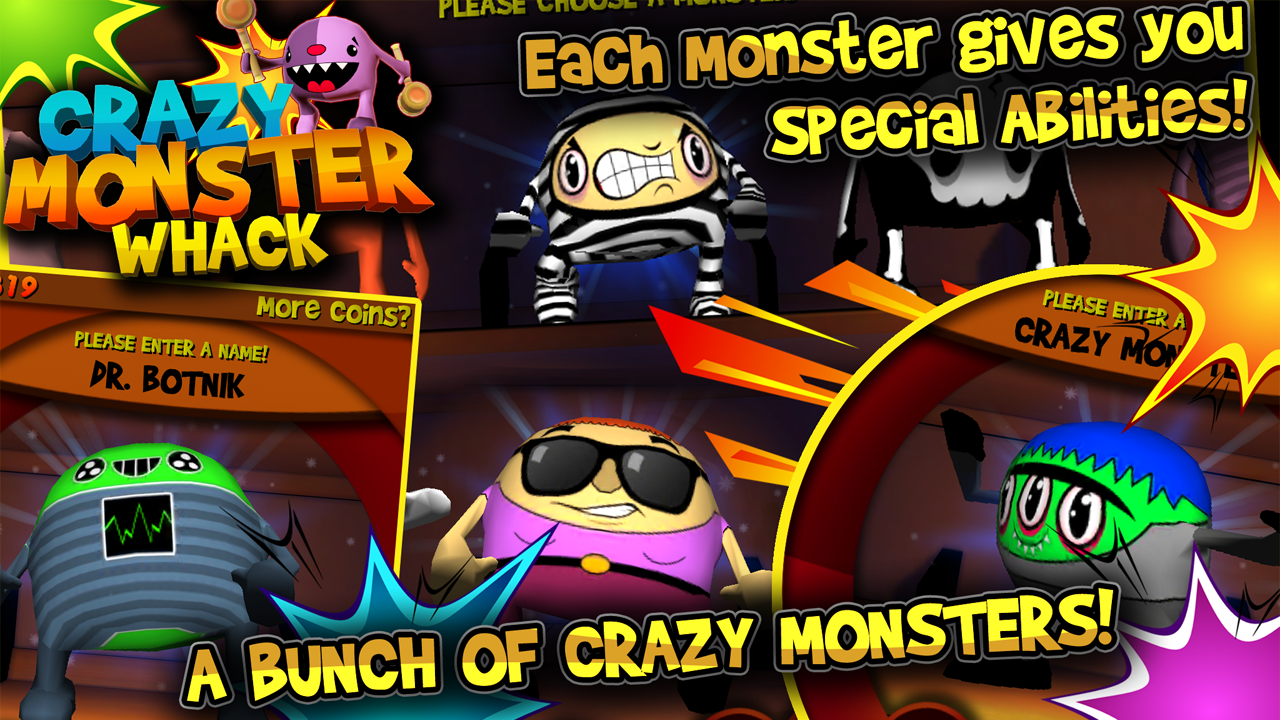 Crazy Monster Whack- screenshot