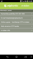 Screenshot of OTP m-token