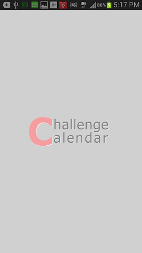 Challenge Calendar 目标 日历