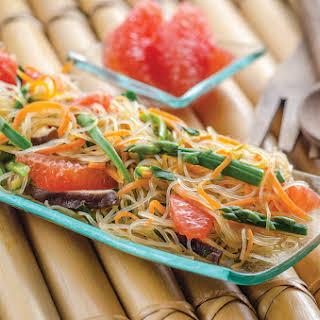 Korean Glass Noodles with Florida Grapefruit.