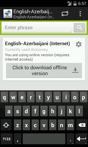English-Azerbaijani Dictionary