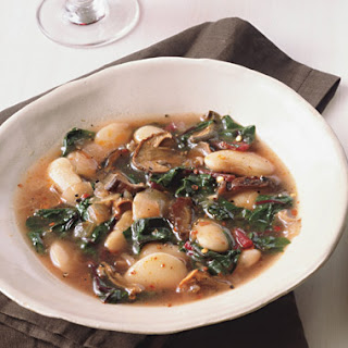 Lima Beans with Wild Mushrooms and Chard