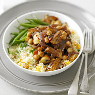 Moroccan Mushrooms With Couscous.