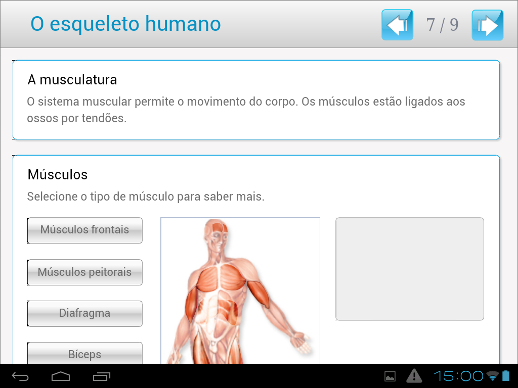 O esqueleto humano - screenshot