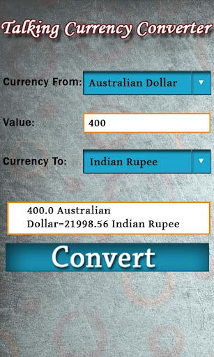 Talking Currency Converter