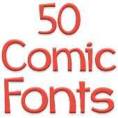 Fonts for FlipFont 50 Comic
