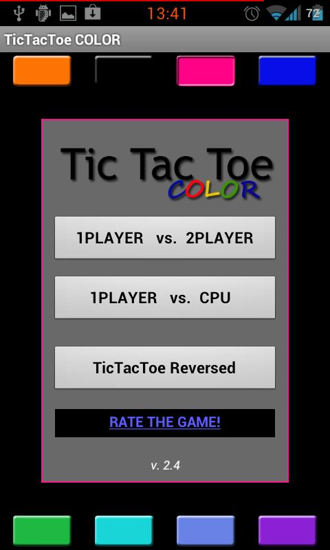 TicTacToe MULTICOLOR - screenshot