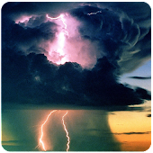 Storm clouds lightning HD
