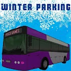 Bus winter parking - 3D game icon