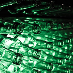 Heineken Bottles by Will Ballew - Abstract Patterns ( beer, heineken, amsterdam, bottles, light )