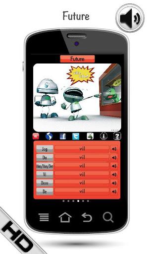 無料教育Appのノルウェー語の動詞を学ぶ|記事Game