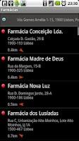 Screenshot of Farmácias