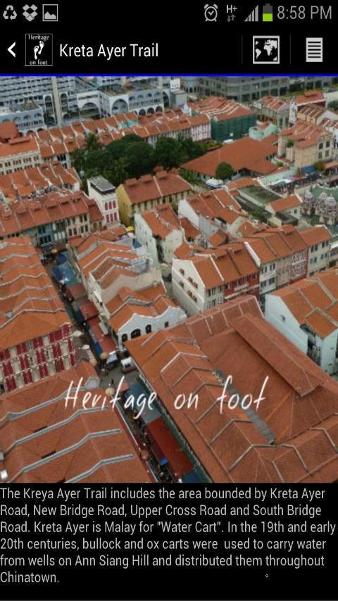 Singapore Heritage on foot - screenshot