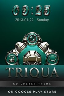TRIQUA Luxury Clock Widget - screenshot thumbnail