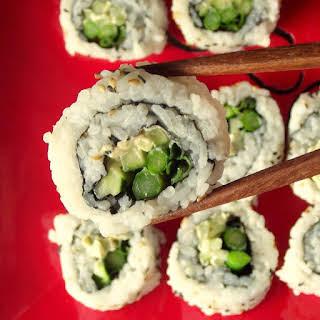 Vegan Cream Cheese and Veggie Sushi.