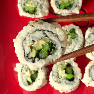 Vegan Cream Cheese and Veggie Sushi.