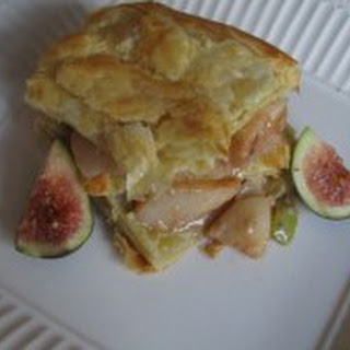 Roasted Pear, Figs and Gorgonzola Puffed Pastry.