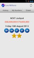 Screenshot of Euro Millions