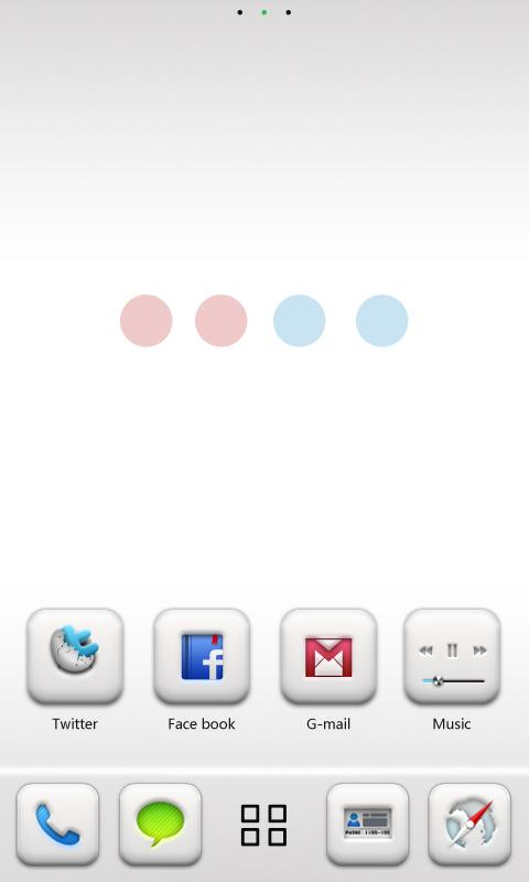 Pure GO LauncherEX Theme - screenshot
