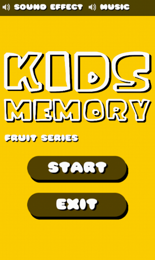 Kids Memory Fruit Series