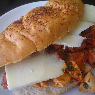 Sausage, Chicken, and Pepper Subs.
