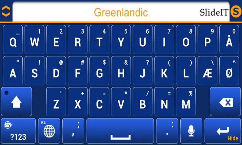 SlideIT Greenlandic Pack - screenshot