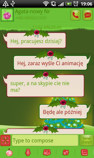 GO SMS Christmas Tree Theme