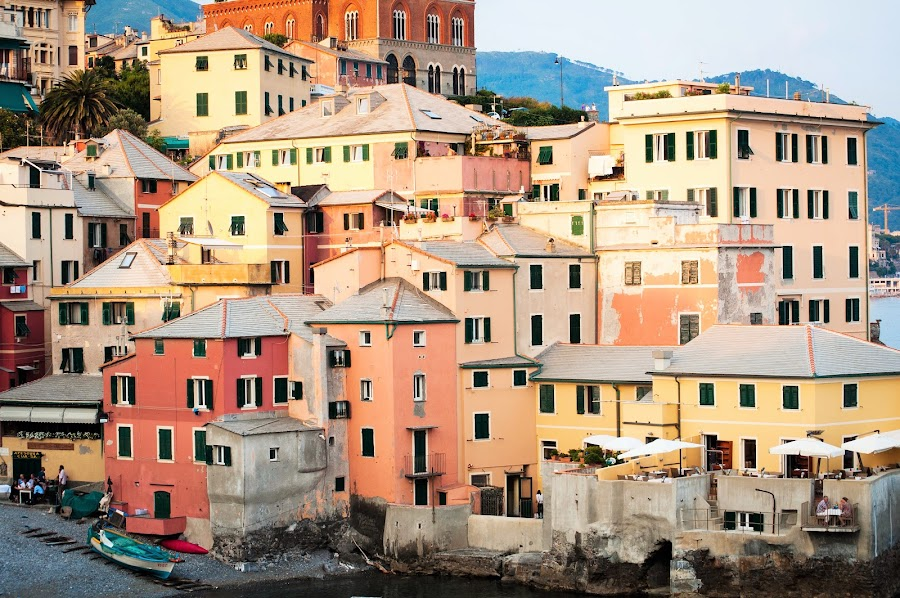Boccadasse by Marwa Ibrahim - Novices Only Landscapes ( houses, boccadasse, colors, travel, seascape, italy )