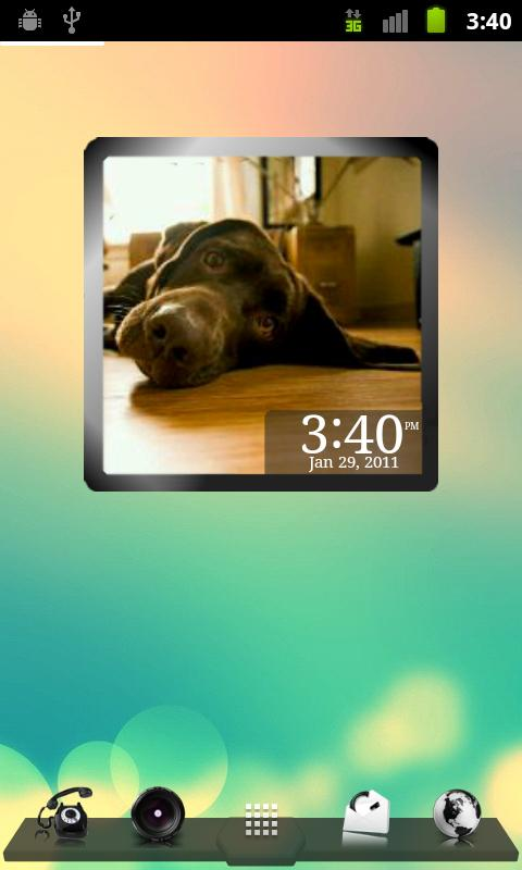 PhotoFrame Clock- screenshot