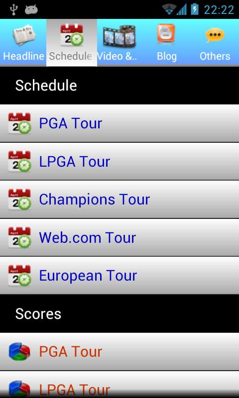 Golf NEWS - screenshot