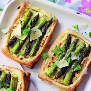 Asparagus, Mint And Ricotta Tartlets.