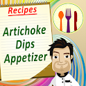 recipe book artichoke dips icon