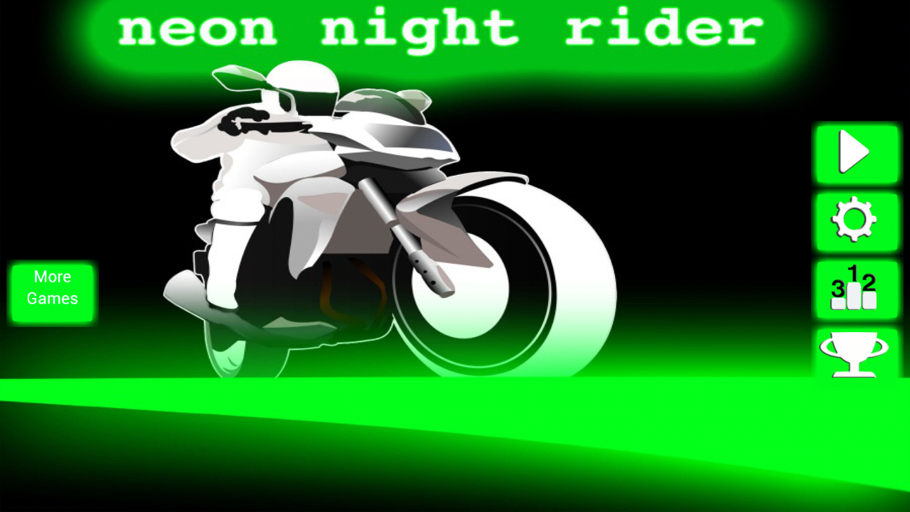 Neon Night Rider Racing- screenshot