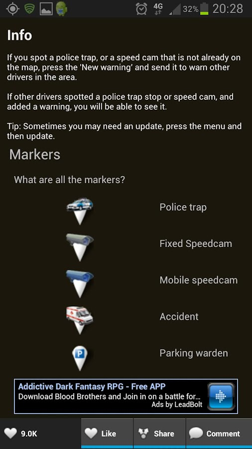 Police traps and Speed cams - screenshot