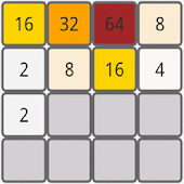 2048 puzzle game with numbers