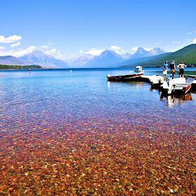 Glacier Lake Mcdonald by Bill Redmond - Landscapes Travel ( national park, mountains, lake, travel, landscape )