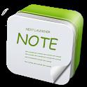 Next Launcher 3D Note Widget icon