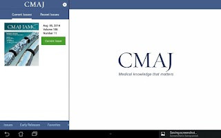 Screenshot of CMAJ
