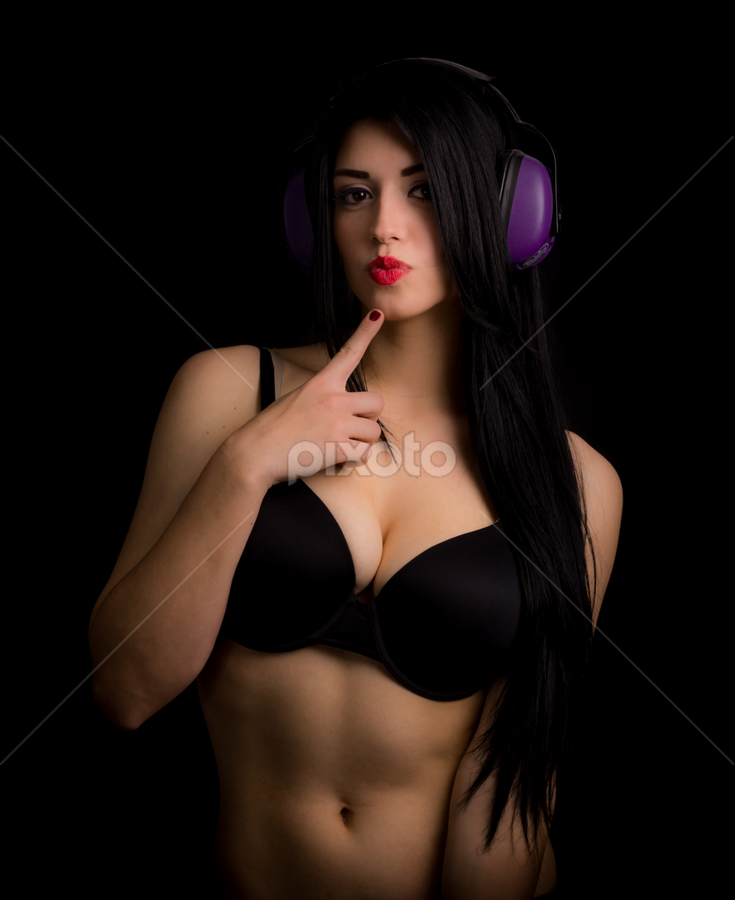 Purple by Robby Ticknor - People Portraits of Women ( rave, woman, bra, rave girl )