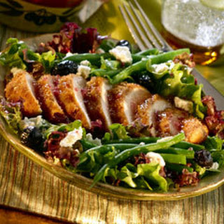Onion-crusted Chicken With South Of France Salad.